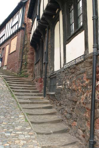 Mediaeval house in Exeter's Stepcote Hill