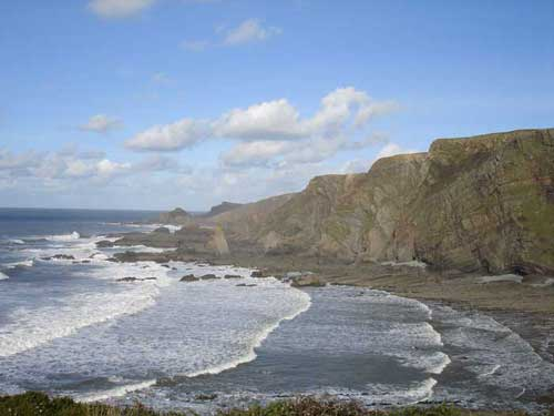 a walk from the harbour to Hartland Point