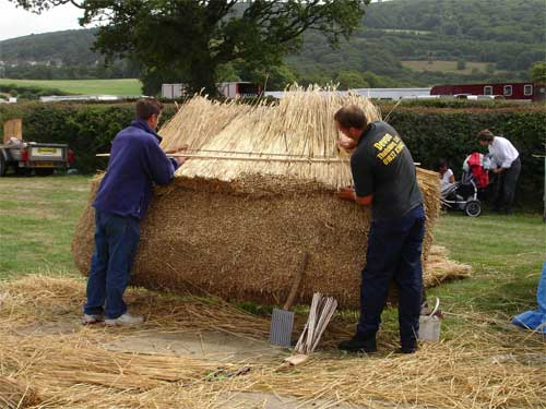 thatching demonstrated at the Okehampton Show