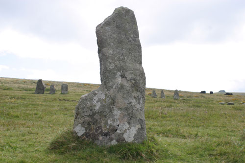 stone circle at Scorhill on Dartmoor