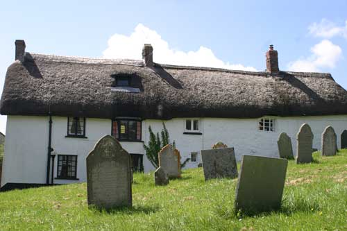 Traditional cottages in Zeal Monachorum